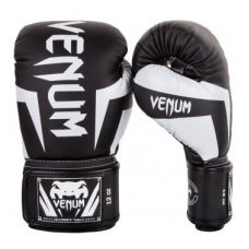 Боксерские перчатки  VENUM ELITE BOXING GLOVES - BLACK/WHITE